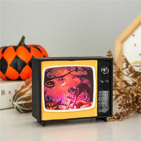 Halloween Ornament Television Light Hanging Retro Lights Holiday Party Atmospher