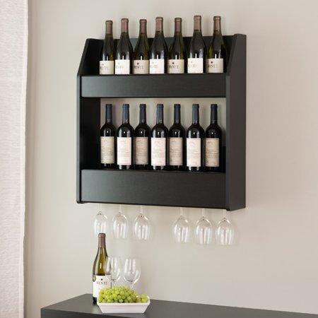 Red Barrel Studio Chancey 24 Bottle Wall Mounted Wine Rack