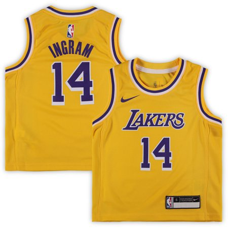 - Brandon Ingram Los Angeles Lakers Nike Preschool 2018/19 Replica Jersey - Icon Edition - Gold