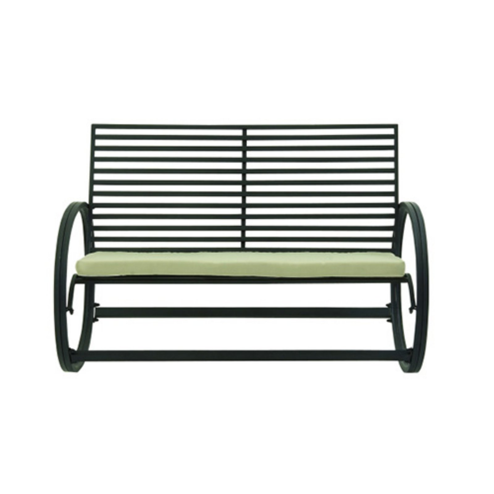 Appealing Metal Fabric Rocking Bench