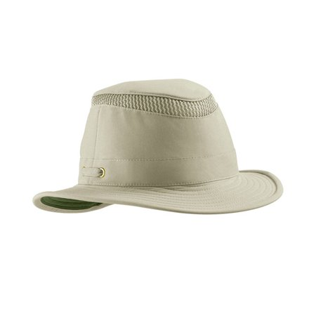 Tilley Size 7 5/8 or 23 7/8 in. Unisex LTM5 Medium Down-Sloping Brim AirFlo Hat, Khaki with Olive Underbrim