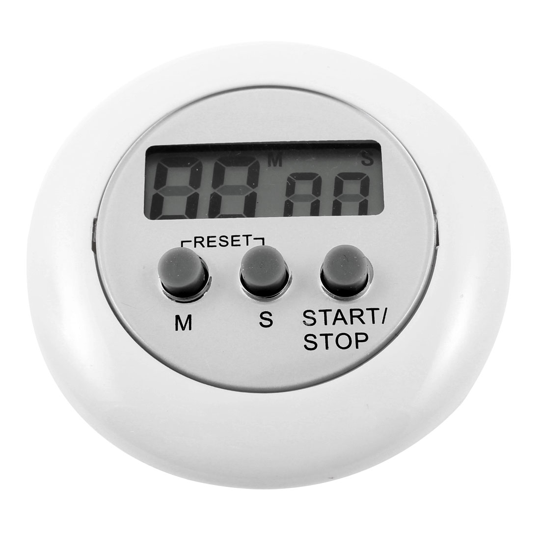 Digital Minute Second Stop/Starting Button Count Down up Alarm Timer White