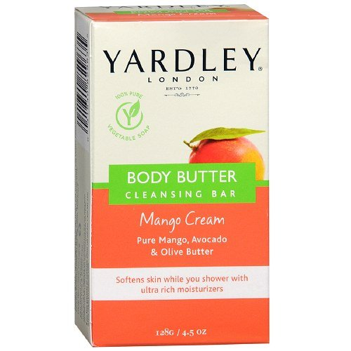 Yardley Of London Body Butter Cleansing Bar, Mango Cream - 4.5 Oz