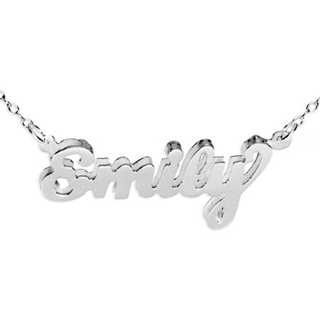 - Personalized Double 3D Name Necklace in Sterling Silver or 24K Gold Plated Sterling Silver