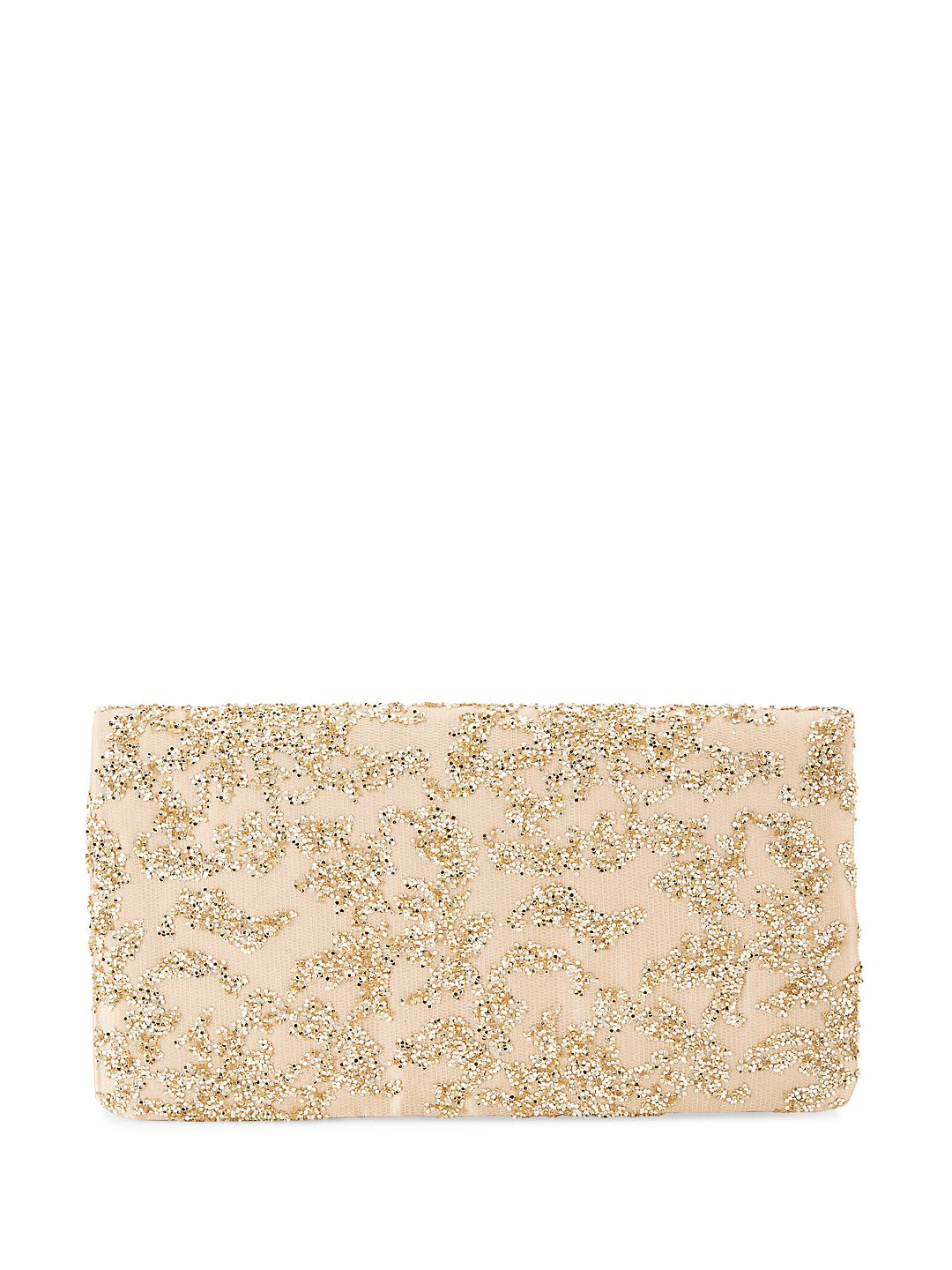 Shay Glitter Net Clutch