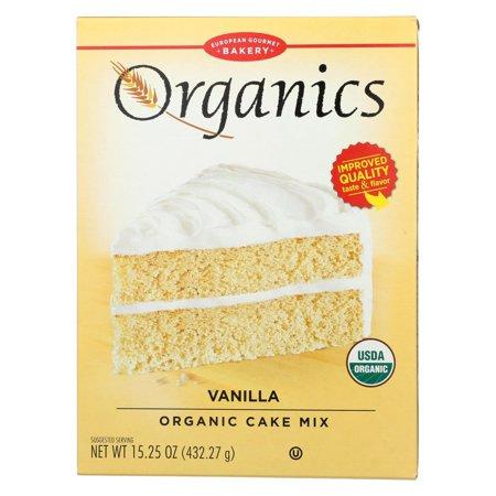 European Gourmet Bakery Organic Vanilla Cake Mix - Vanilla Cake Mix - Case Of 12 - 15.25 Oz.