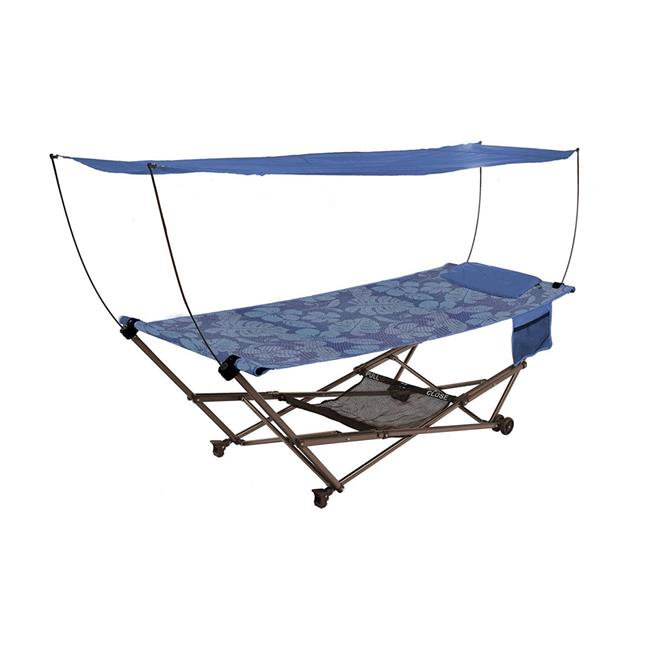Bliss Hammocks Q-806BFr Stow EZ Hammock & Collapsible Stand with Pillow  Fern jacquard