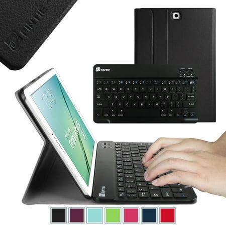 Samsung Black Keyboard - Fintie Keyboard Case for Samsung Galaxy Tab S2 9.7 Tablet - Slim Shell Cover with Bluetooth Keyboard, Black