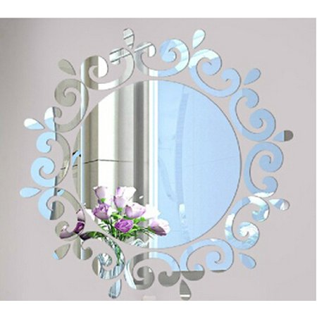 Outgeek Wall Stickers Decals Creative 3D Acrylic Mirror Stickers Removable Decorative Wall Art Decal Decoration for Bedroom Bathroom Home Dorm Wall Decor (Dora Wall Decorations)