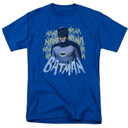 Trevco Batman Classic Tv-Theme Song - Short Sleeve Adult 18-1 Tee - Royal Blue, Large - Classic Halloween Theme Songs