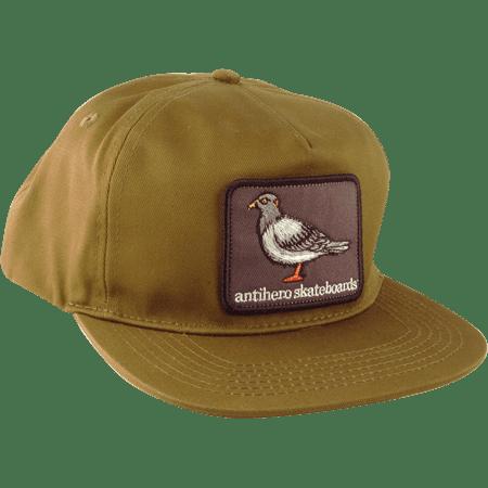 07baced50a Antihero Pigeon Patch Skate HAT - Adjustable Olive Green - Walmart.com