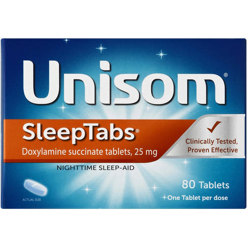 Unisom SleepTabs Doxylamine succinate Tablets, 80 Ct
