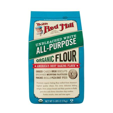 Bob's Red Mill Organic Unbleached White Flour, 5 Lb ()