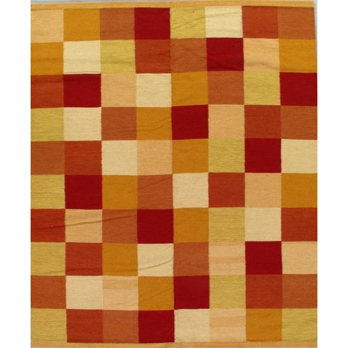Isabelline Conkling Flat Weave Wool Yellow/Red Area Rug