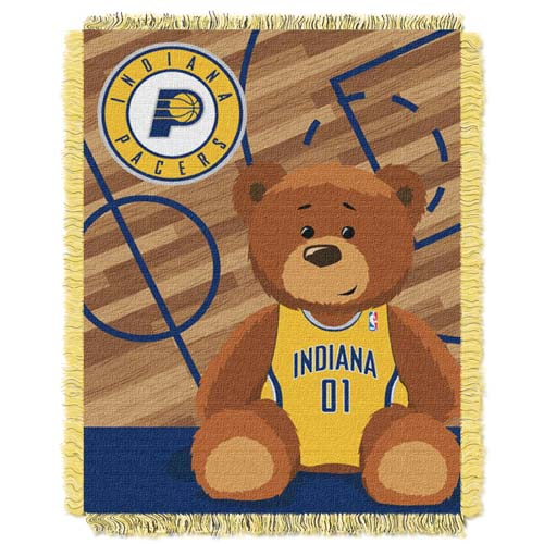 Indiana Pacers Jacquard BABY Throw Blanket