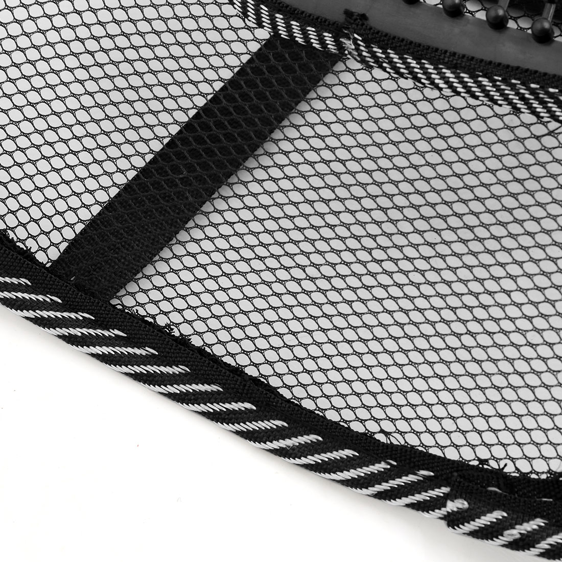 Black White Waist Lumbar Massage Mesh Cushion Back Support Pad for Car Office - image 2 of 5