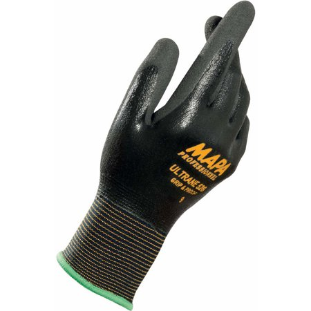 Fully Coated Glove (MAPA Ultrane 526 Grip & Proof Nitrile Fully Coated Gloves, Lt Weight, Size 8, 1 Pair, Lot of 1)