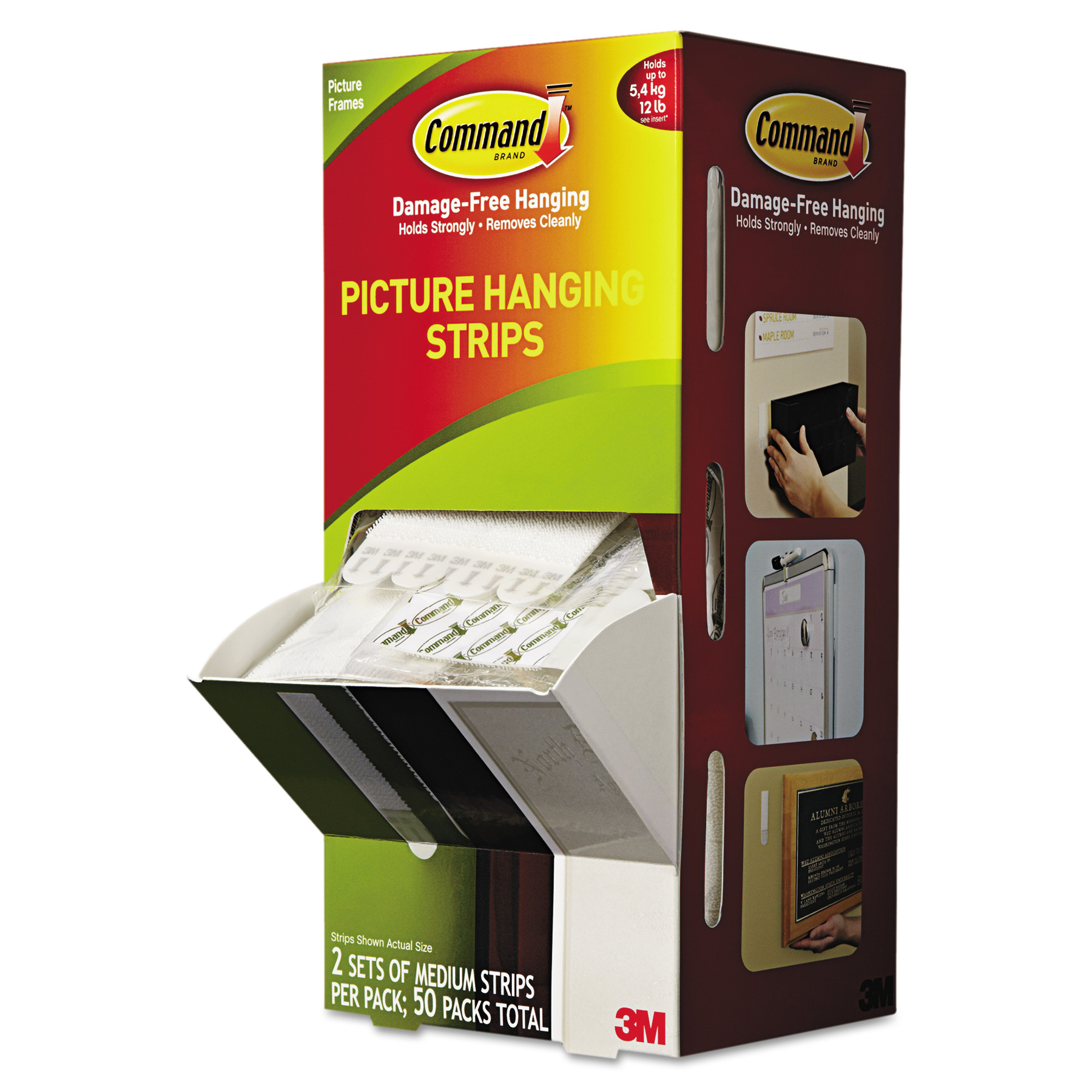 "Command Picture Hanging Strips, 5/8"" x 2-3/4"", White, 50pk -MMM17201CABPK"