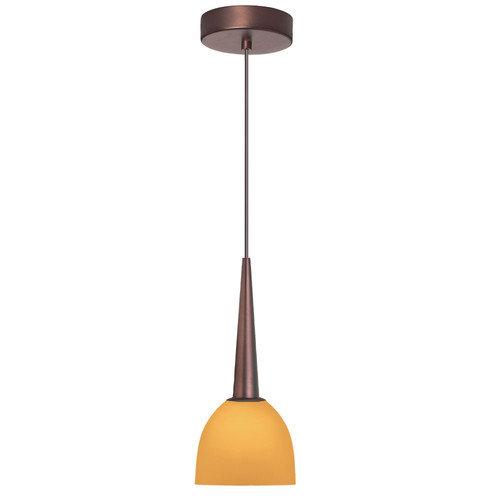 Dainolite Lighting DLSL7711-AM-OBB 1-Light Pendant Amber Glass Oil Brushed Bronze Finish