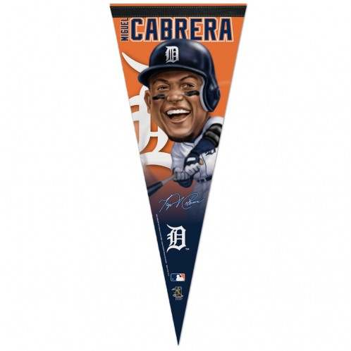 Detroit Tigers Miguel Cabrera Caricature Premium Pennant by Wincraft, Inc.