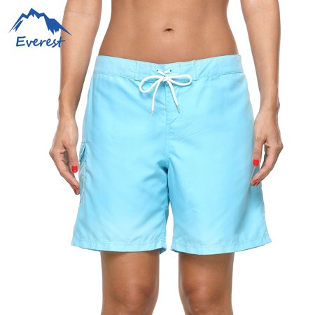 Women Swim Boardshorts Tankini Boyshorts Beach Bottom Sexy Solid Color Elasticated Lace Shorts Swimsuit