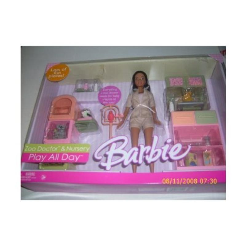Barbie Play All Day Zoo Doctor Playset African American Doll by