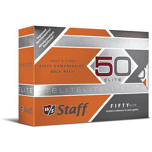 Wilson W/S Fifty Elite Orange Golf Balls, 12-pack