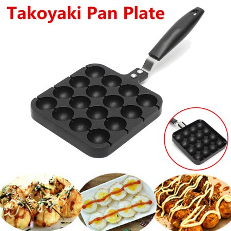Black 16 Holes Home Kitchen Cooking Baking Grill Mold Octopus Ball Maker Takoyaki Pan Plate](Octopus Cupcakes)
