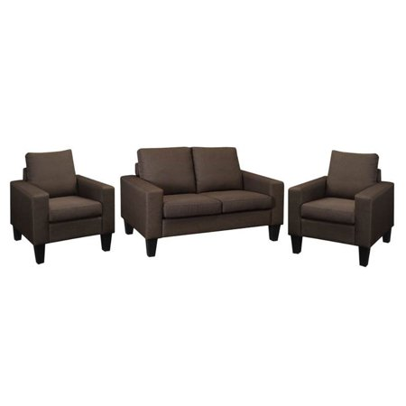 Surprising 3 Piece Sofa Set With Loveseat And Set Of 2 Accent Chair In Chocolate Pdpeps Interior Chair Design Pdpepsorg