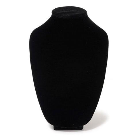 Necklace Stand Velvet Black 12In