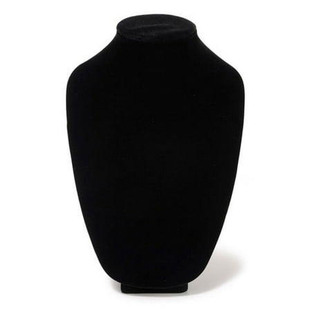 Necklace Stand Velvet Black 12In (Necklace Will Stand)
