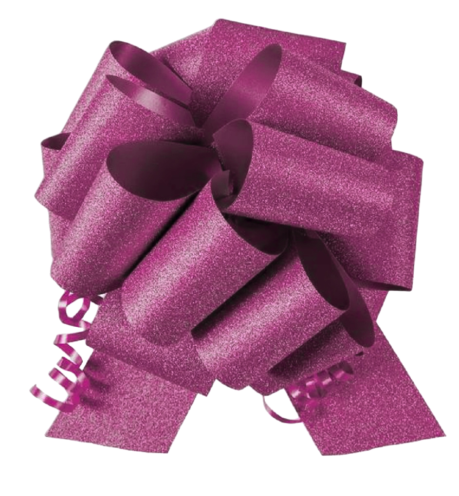 """10 Pack 8"""" No Mess Diamond Glitter Pull Bows Pew Wedding Christmas Gift Wrap"""