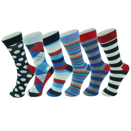 15864a55bdf6 Alpine Swiss - Alpine Swiss 6 Pack Mens Cotton Dress Socks Mid Calf Argyle  Pattern Solids Set - Walmart.com