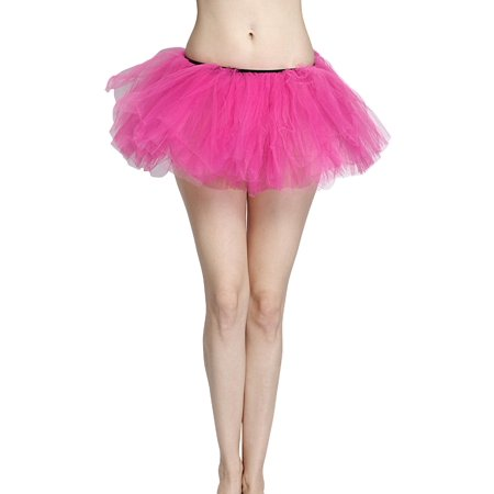 31654a171f1b9 Hot Pink Adult Size 5-Layer Tulle Tutu Skirt - Princess Halloween Costume,  Ballet Dress, Party Outfit, Warrior Dash/ 5K Run