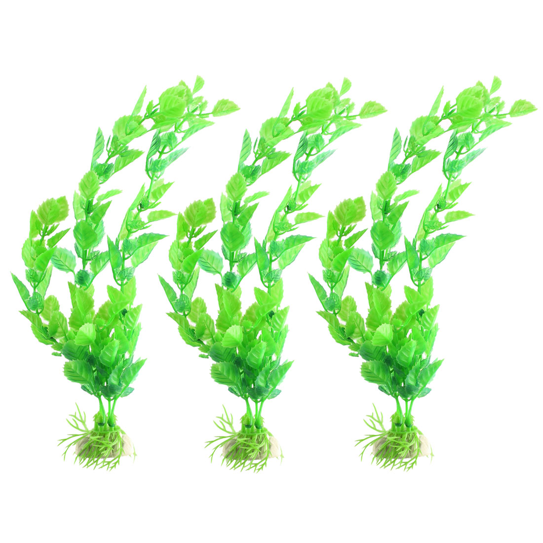 Family Fish Tank Aquarium Plastic Grass Water Scenery Plant Decoration 3pcs