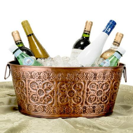 3½ Gallon Antique Copper Party Tub](Copper Buckets)