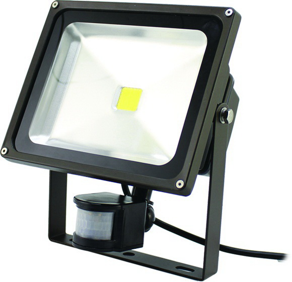 WESTGATE Led Flood Light With Motion Sensor, 120~277V, 30W, Ip65, 3500K Warm White, 2650 Lm