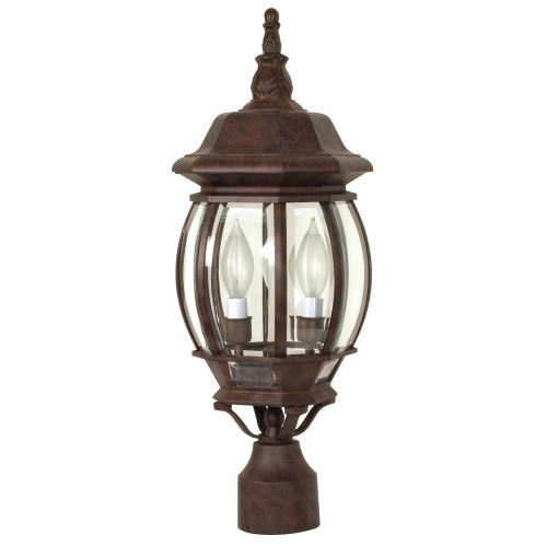 3 Light 21 in. Post Lantern Clear Beveled Glass by Supplier Generic