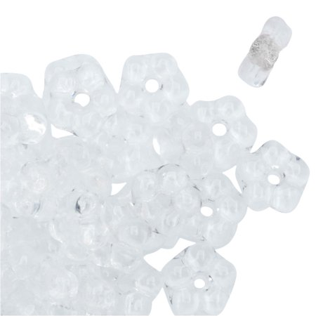 Preciosa Czech Glass, Forget Me Not Flower Spacer Beads 5mm, 72 Pieces, Crystal