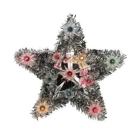 Northlight Seasonal Lighted Tinsel Star Christmas Tree
