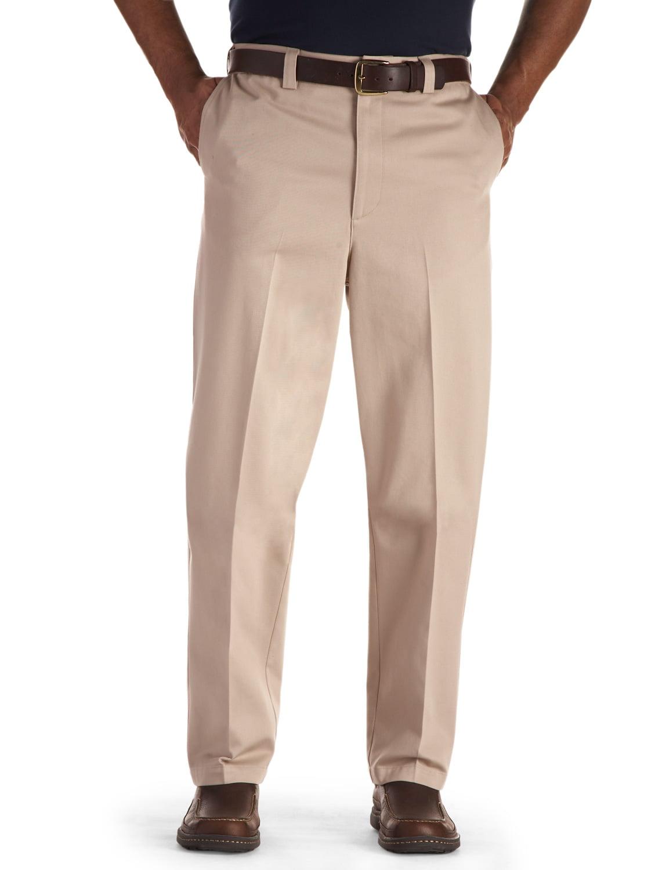 Men's Big & Tall Oak Hill Waist-Relaxer Flat-Front Premium Pants