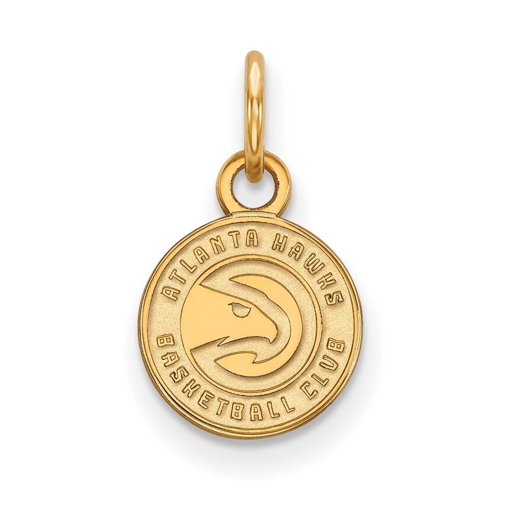 LogoArt NBA Atlanta Hawks 14kt Gold-Plated Sterling Silver Extra Small Pendant
