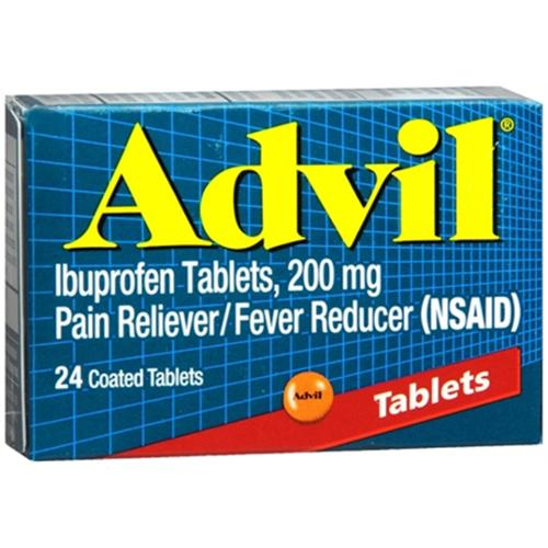 Advil 200 mg Coated Tablets 24 ea (Pack of 4)