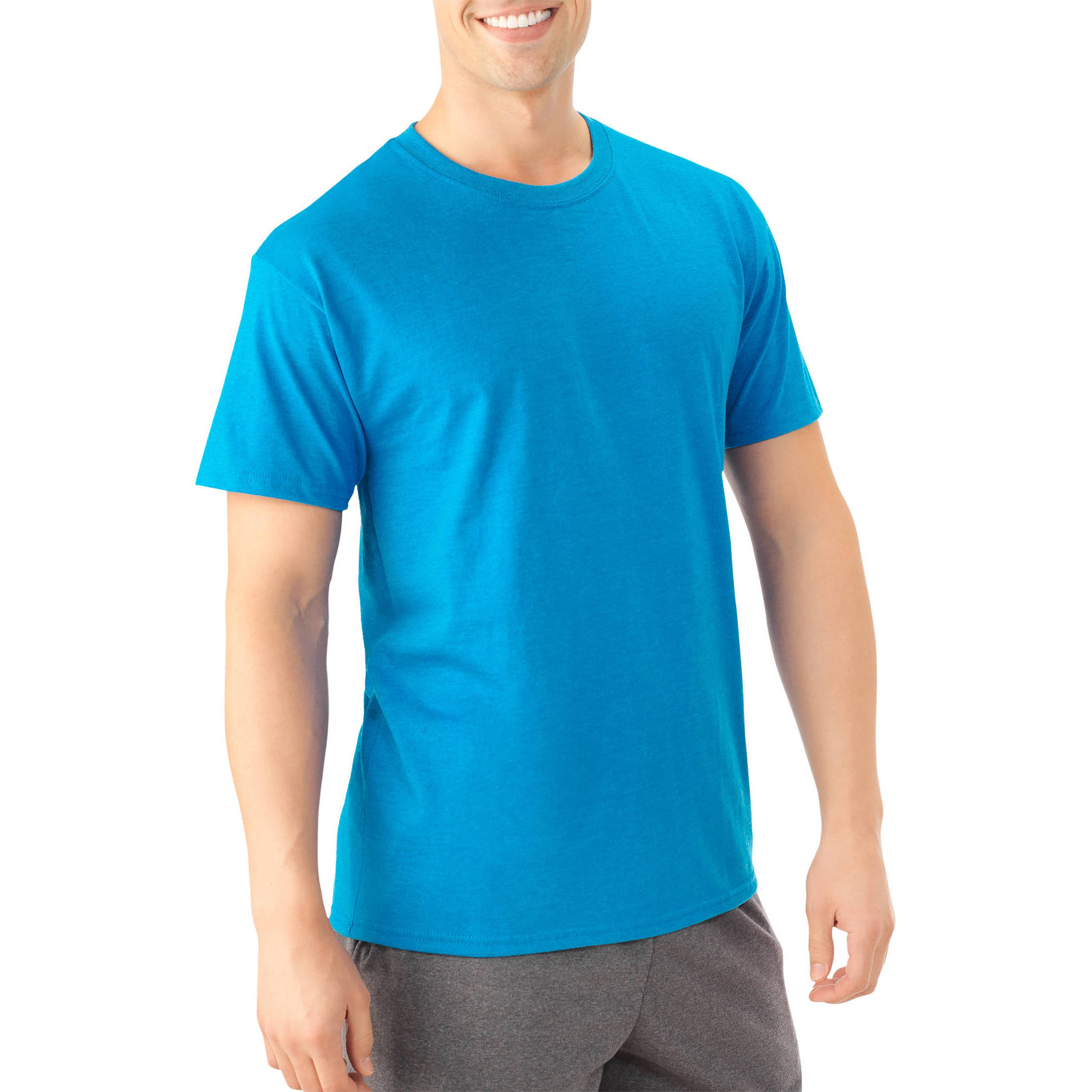 Men's Platinum Eversoft Short Sleeve Crew T Shirt, up to Size 4XL by Fruit of the Loom
