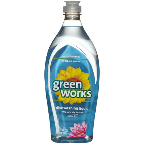 Green Works Dishwashing Liquid, Water Lily, 22 Fluid Ounces