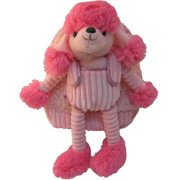 Kreative Kids 82013 Poodle Long Legs Plush Backpack with Pink