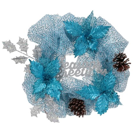 Holiday Time 'Seasons Greetings' 20-Inch Mesh Wreath