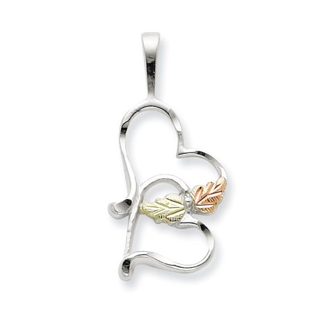 Sterling Silver & 12K Double Heart Necklace (Weight: 0.09 Grams, Length: 18 Inches) - image 2 of 2