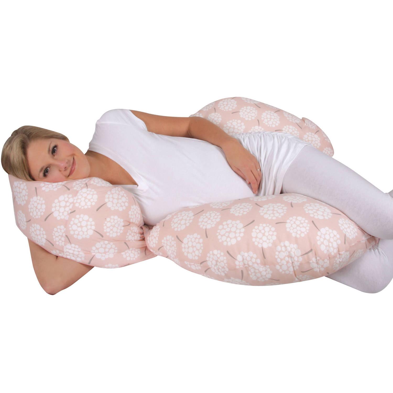 Leachco Keeper Comfy Flexible Total Body Pillow, Dandelion Peach