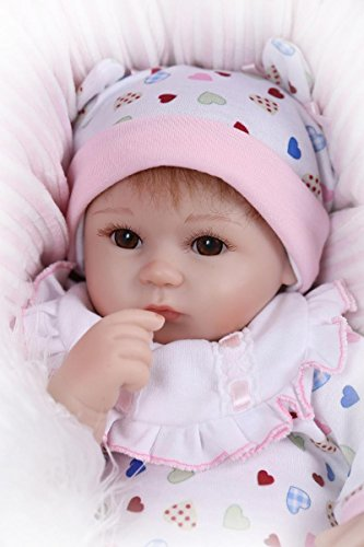 Realistic Reborn Infant American Newborn Baby Girl Doll With Magnet Pacifier